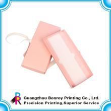 Popular caja de regalo de boda de embalaje de color rosa de impresión personalizada
