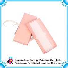 Popular customized printing pink color packaging wedding gift box