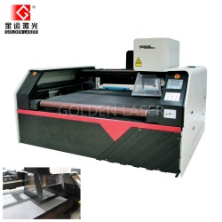 Laser Engraving Cutting Textile Leather with Galvo head