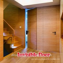 Puerta invisible de madera con cierre automático