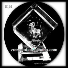 K9 лазерный 3D овец внутри кристалла куба