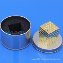 Impression de petits aimants en forme de bloc d'enrobage