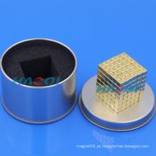 Ímãs pequenos em forma de bloco de revestimento de ouro