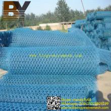 Malla hexagonal de malla de Gabion revestida de PVC