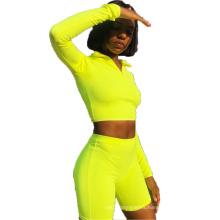Ladies Jogging Yoga Set 2 PCS Sports Print Women Long Sleeve Gym Suit
