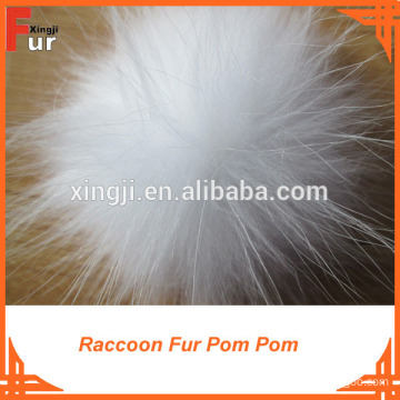 Fur Ball Keychain / Raccoon Fur Pom Poms