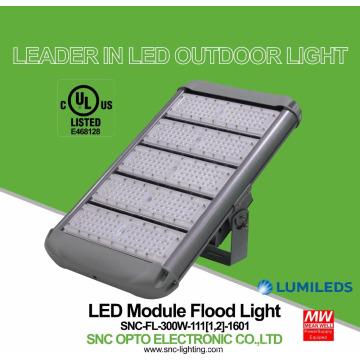 Maior desempenho de custo UL cUL listados 300W holofote excelentes luminárias de iluminação ao ar livre IP65 Mean Well driver 5 anos de garantia