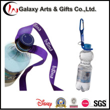 Púrpura poliéster impreso cordones de sostenedor de botella de agua