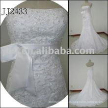 2011 la última gota elegante envío libre meimaid estilo rebordeado sweethart brillante vestido de boda de sirena de malla 2011 JJ2433
