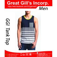 Latest Design Fashion Gym Wholesale 100 Cotton Blank Mens Tank Top