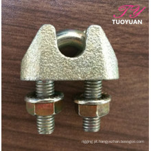 Braçadeira de cabo de aço ferro maleável Clips DIN1142
