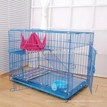 Qualitäts-großer stapelbarer Katzen-Käfig mit Rädern / Draht-Katzen-Käfig für Verkauf