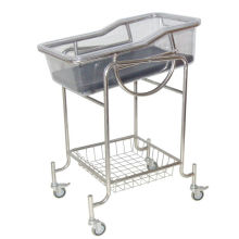 Manual Mobile Baby Tray , Pediatric Hospital Infant Nursing Beds