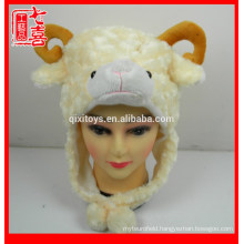 Cartoon animal head shaped plush cap hat plush animal hat for children