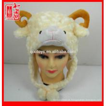 Cabeça de animal dos desenhos animados em forma de chapéu de pelúcia chapéu animal de pelúcia chapéu para crianças