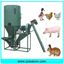 Machine verticale de mélange d'aliments pour poulet et de poulet avec broyeur