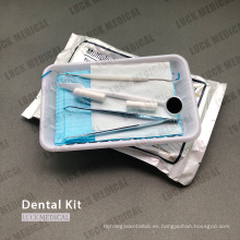 Kit de examen de instrumentos dentales desechables