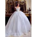 LL060 Luxus Perlen 2017 Brautkleider Ballkleid Appliques Spitze Robe de mariage Tulle vestido de noiva princesa Brautkleider