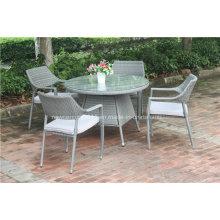 Mesa de jantar ao ar livre e cadeira de jardim