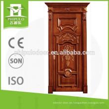 Puerta interior de madera de nuevo producto con cabezal de puerta