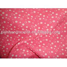 Impresión 100% algodón satinado tela tejido