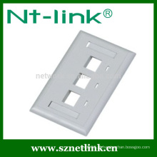 Nós tipo rj45 3 port faceplate