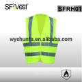 Astm f1506 gilet résistant à la flamme vêtements de sécurité réfléchissante vêtements de travail de sécurité 98% polyester FR traité 2% de carbone