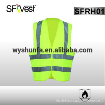 Astm f1506 chaleco ignífugo ropa de seguridad reflexiva ropa de trabajo de seguridad 98% poliéster FR tratado 2% de carbono