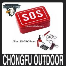 2016 portable SOS camping survival kits self help emergency gear tool box set wholesale hot