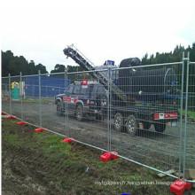Clôture temporaire galvanisée portative pour le chantier de construction