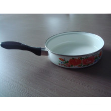 enamel fry pan with three different kind handle for you