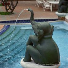 Hochwertiger Bronze Elefant Gartenbrunnen zum Verkauf