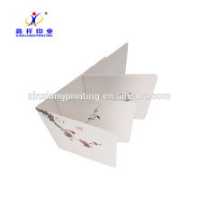 Customized Printing!Flowers Paper Cards Wintersweet Figure Greeting Card
