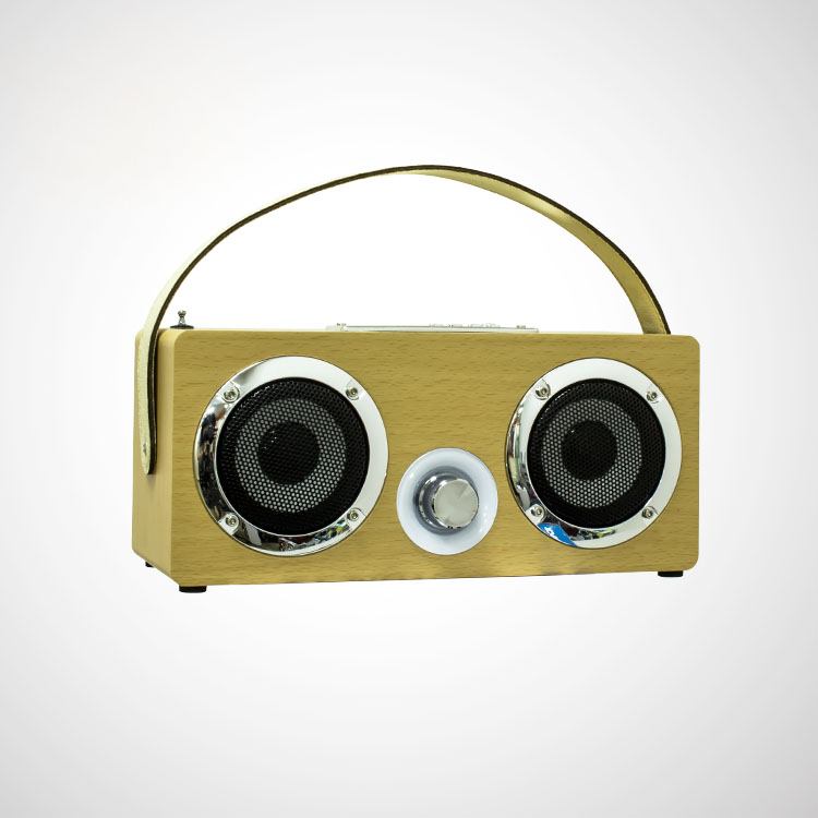 Portable Wooden Wireless Bluetooth Speaker