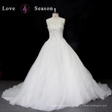 XW6704 vestido de noiva de renda com vestido de casamento com cristais novo modelo 2017