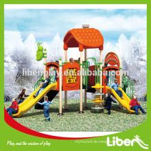 Kommerzielle Kletterwand Plastik Spielplatz Outdoor Equipment, neu einzigartiger Outdoor Spielplatz Plastikfolie LE.MN.003