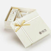 Rigid Packaging Skincare Gift Box with Ribbon Bow