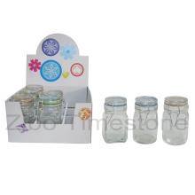 9PC Gewürzflasche mit Glasdeckel (TM919)