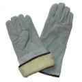 Cow Split Leather Winter Warm Boa Full Lining Welding Gloves