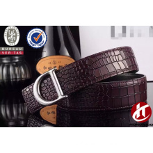 2015 men fashion stone pattern with sliver/rose gold buckle belt