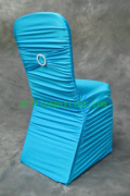 SHIRRED SPANDEX CHAIR COVER  (shirred around,spandex sash with ring )