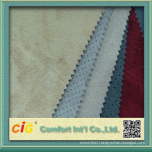Fashion New Design Embroidery Bonded Suede Fabric