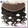 Estilo recto del pelo humano de la Virgen del grado 11A de calidad superior 13 * 4 frontal del cordón de Eurasia