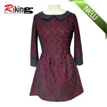 High Quality Dress with PU Neck