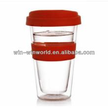 Nuevos productos vendedores calientes para 2014 vasos de cristal coloreados del regalo de la promoción de la oferta especial