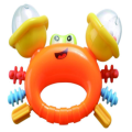 Safety Cute Crab Shape mainan lonceng bayi