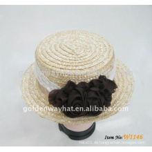 Damen Stroh Derby Hut mit großen bowknot