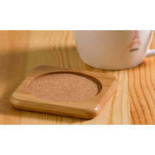 Promotional Bamboo Cup Coaster / Bamboo Coffee Cup Mat