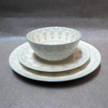Plato de sopa de porcelana