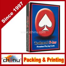 Cartes à jouer rouges de marque Premium (430195)